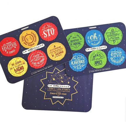le-astropalle-di-simon-the-stars-set-di-2-tavole-per-12-dischi-decorativi-stampati-su-cartone-riciclato